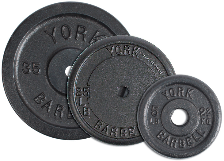 1 Inch Contour cast Iron Weight Plates - York Barbell