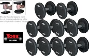 26130,26131,26132,26133- Rubber Pro Style Dumbbell Sets