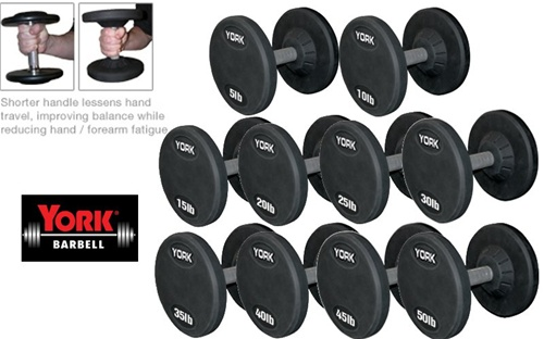 york weight set. pro style dumbbell set york weight