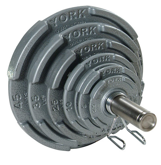 Quad-Grip Olympic Plate Set - York Barbell