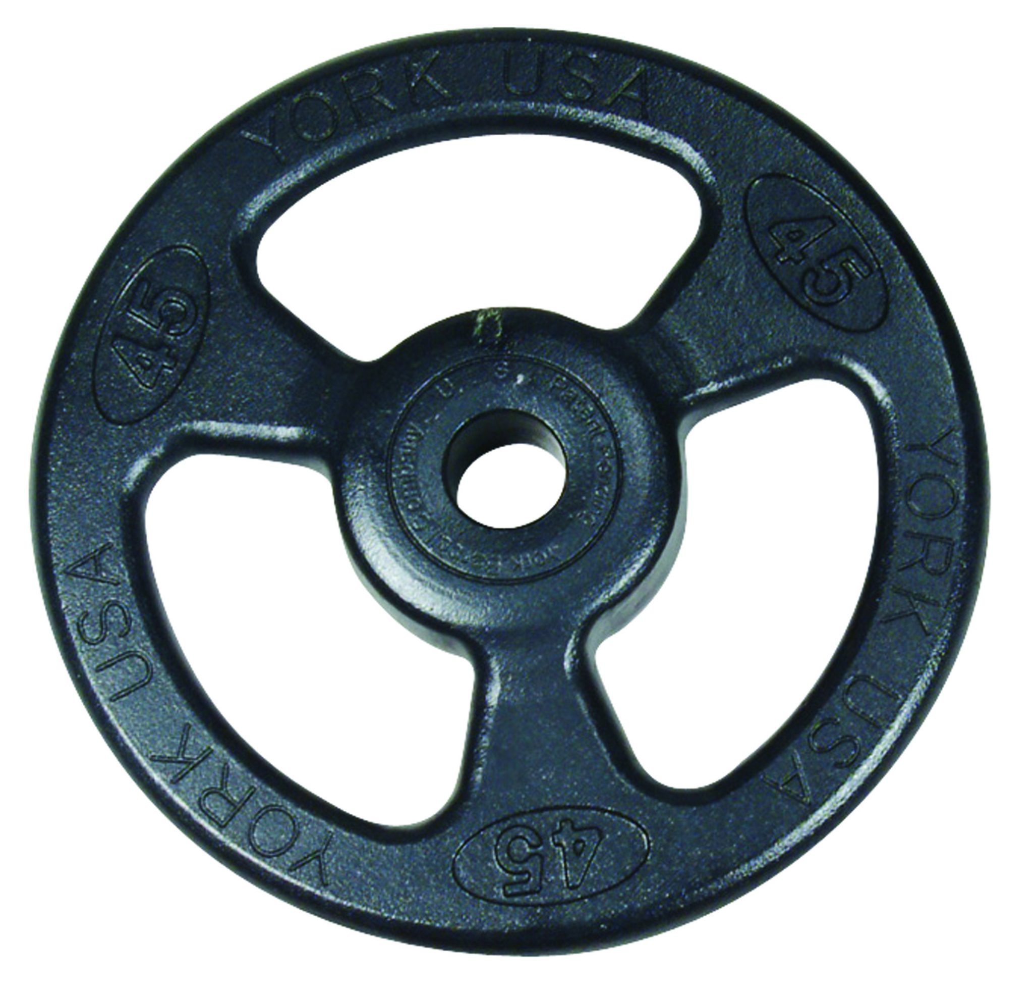 "2"" Iso-Grip Steel Olympic Weight Plate - York Barbell"