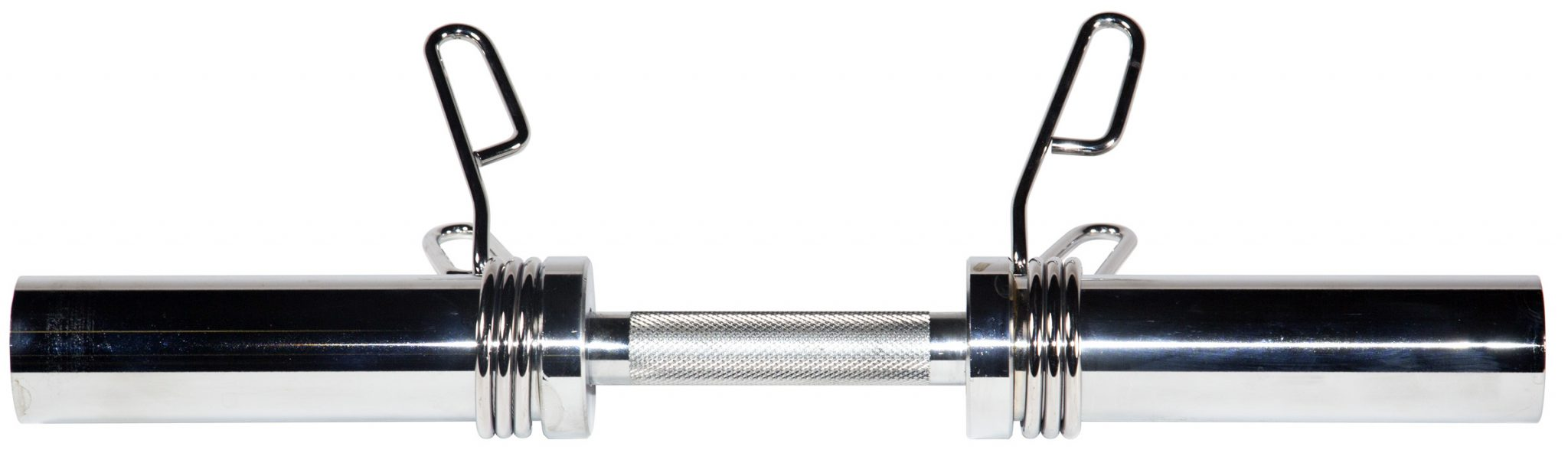 "20"" Olympic Dumbbell Handle w/ Spring Clip Collars"