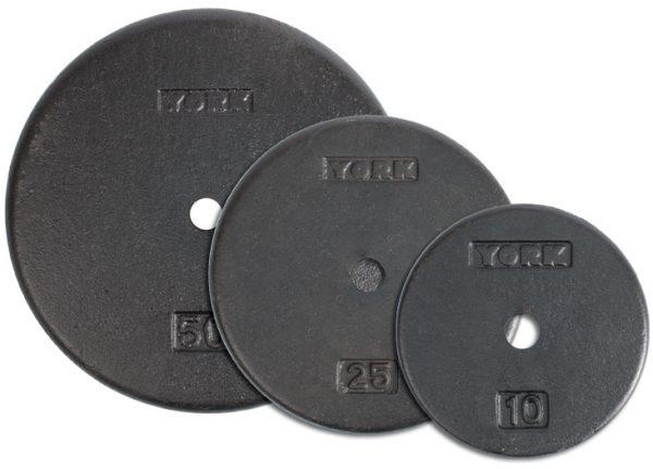 1 Inch Flat Cast Iron Weight Plate - York Barbell