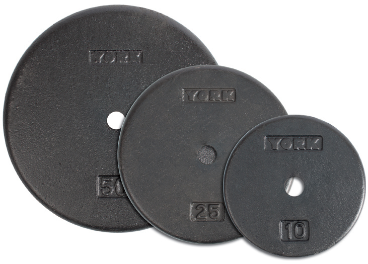 1 Inch Flat Cast Iron Weight Plate - York Barbell