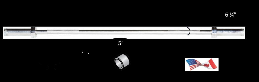 5' Chrome Olympic Weight Bar