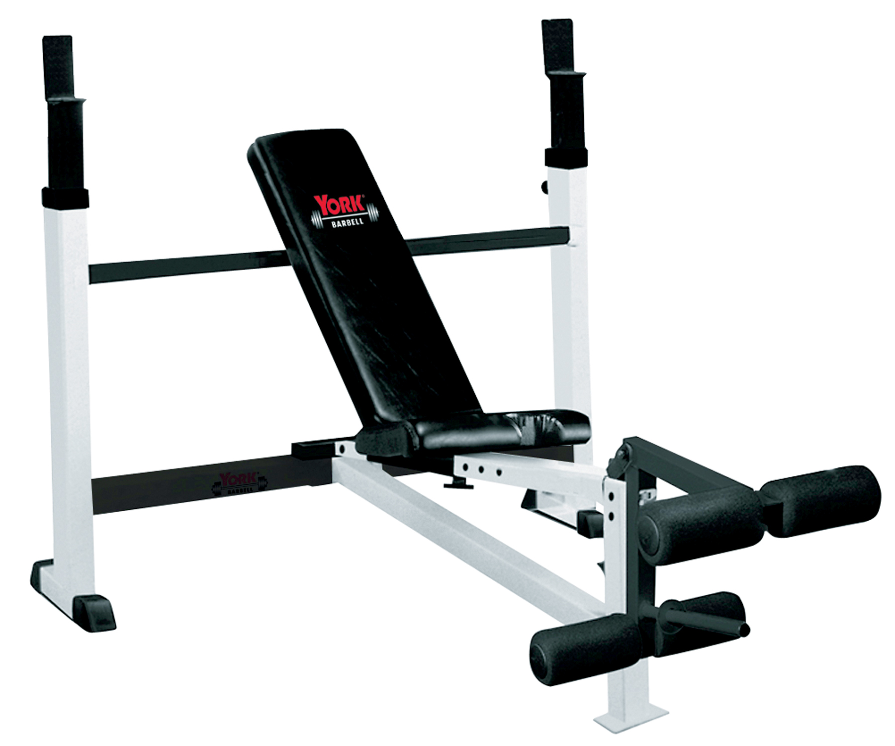 Adjustable Olympic Combo Bench Press W Leg Developer York Barbell