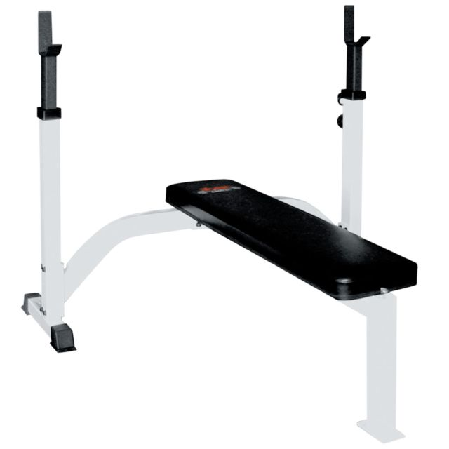 Olympic Fixed Flat Bench Press w/ Uprights