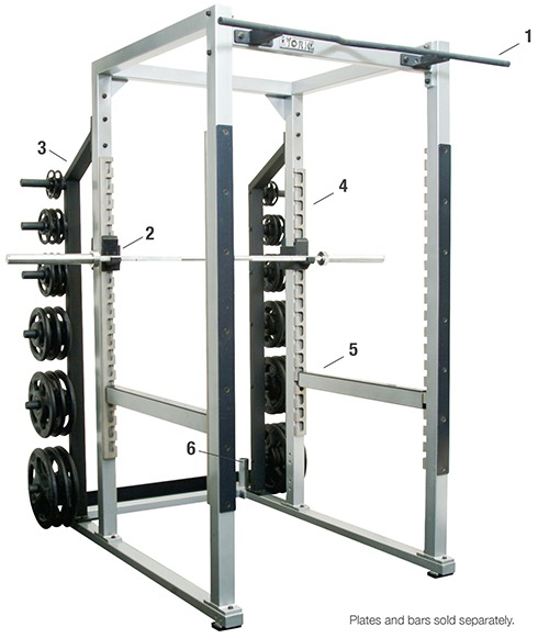STS Power Rack W/ Hook Plates