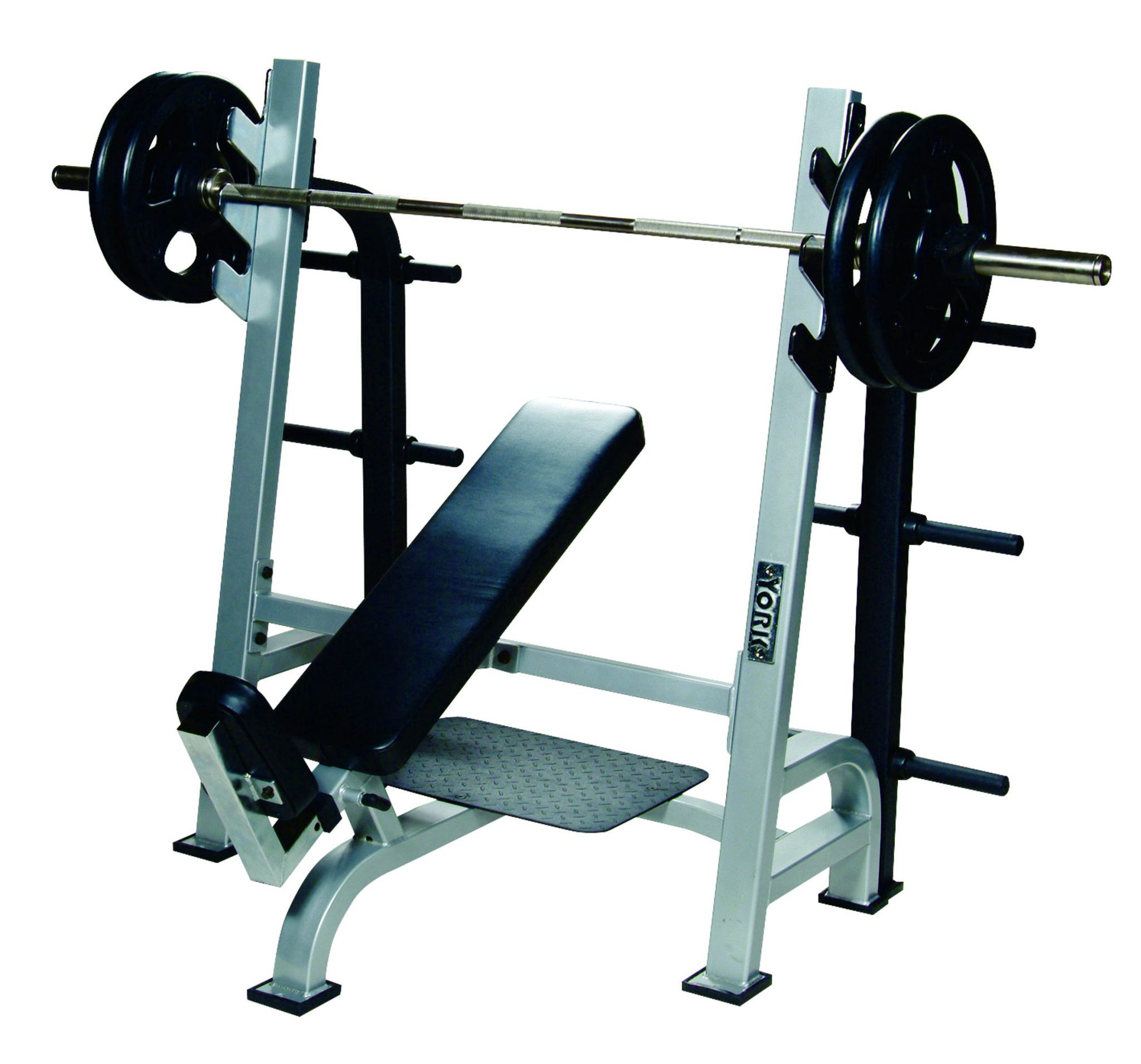Olympic Incline Bench Press w/ Gun Racks
