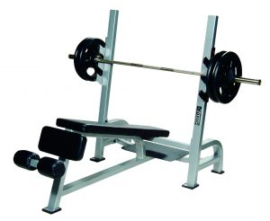 Olympic Decline Bench Press w/ Gun Racks