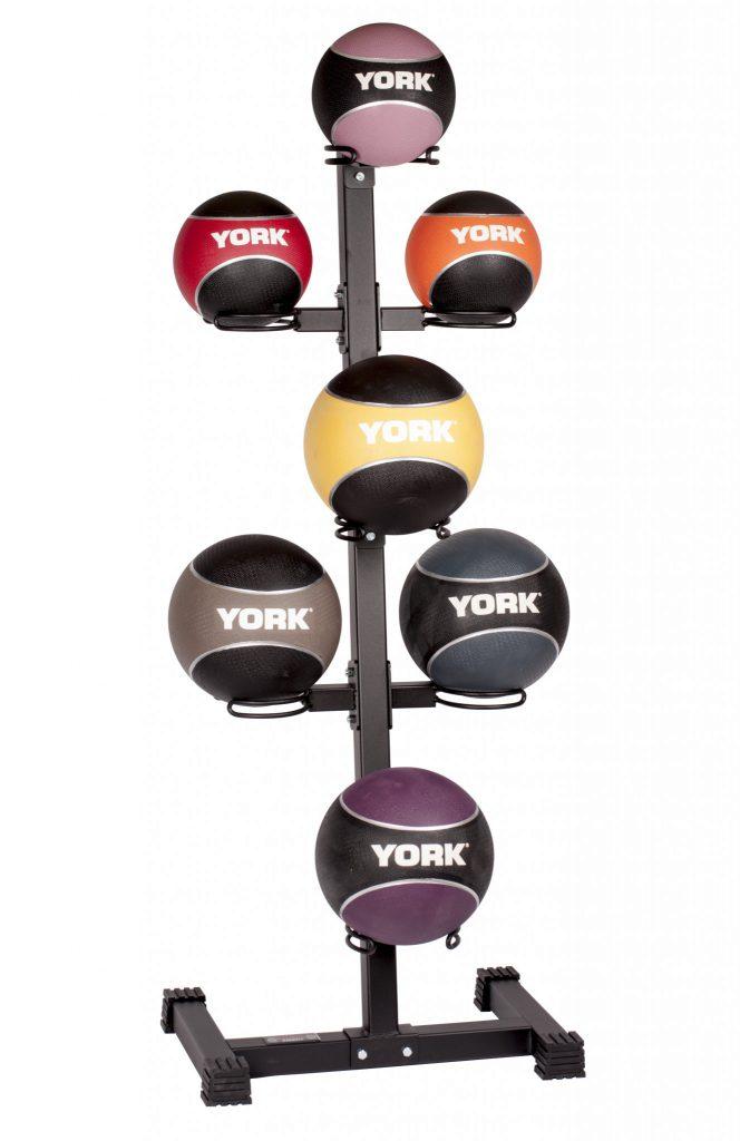 7 Ball Vertical Medicine Ball Storage Rack Gym Equipment