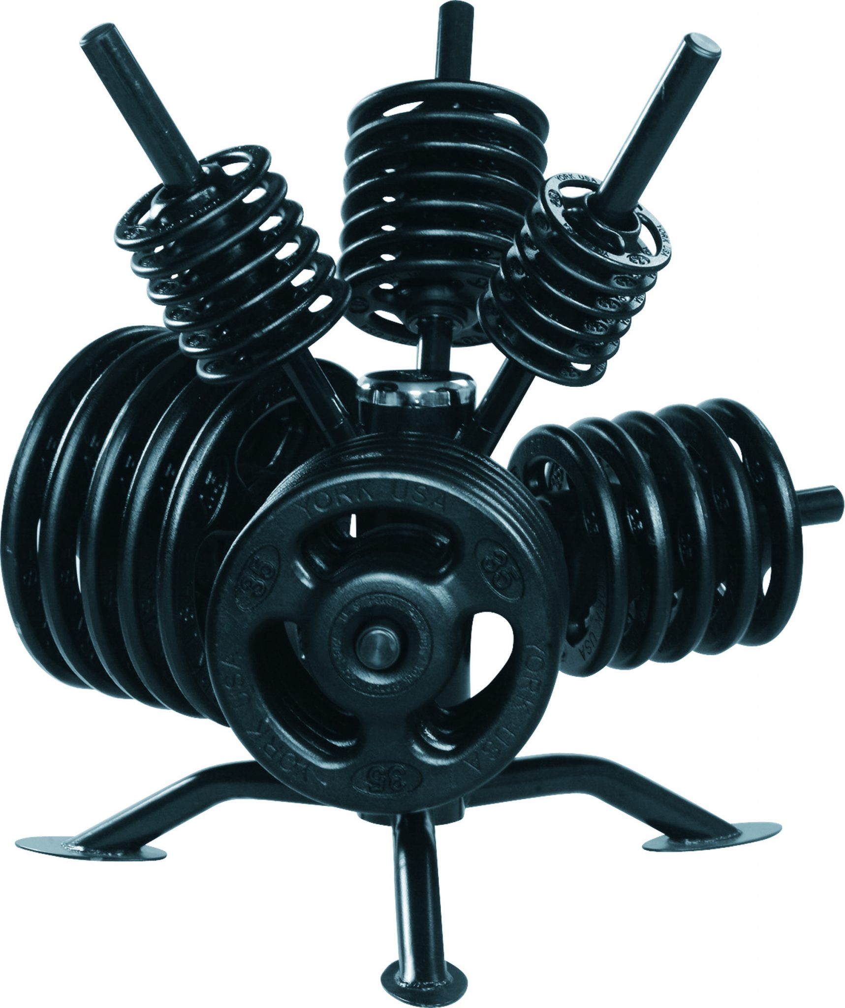 """Spider Rack"" Rotational Olympic Weight Plate Rack"