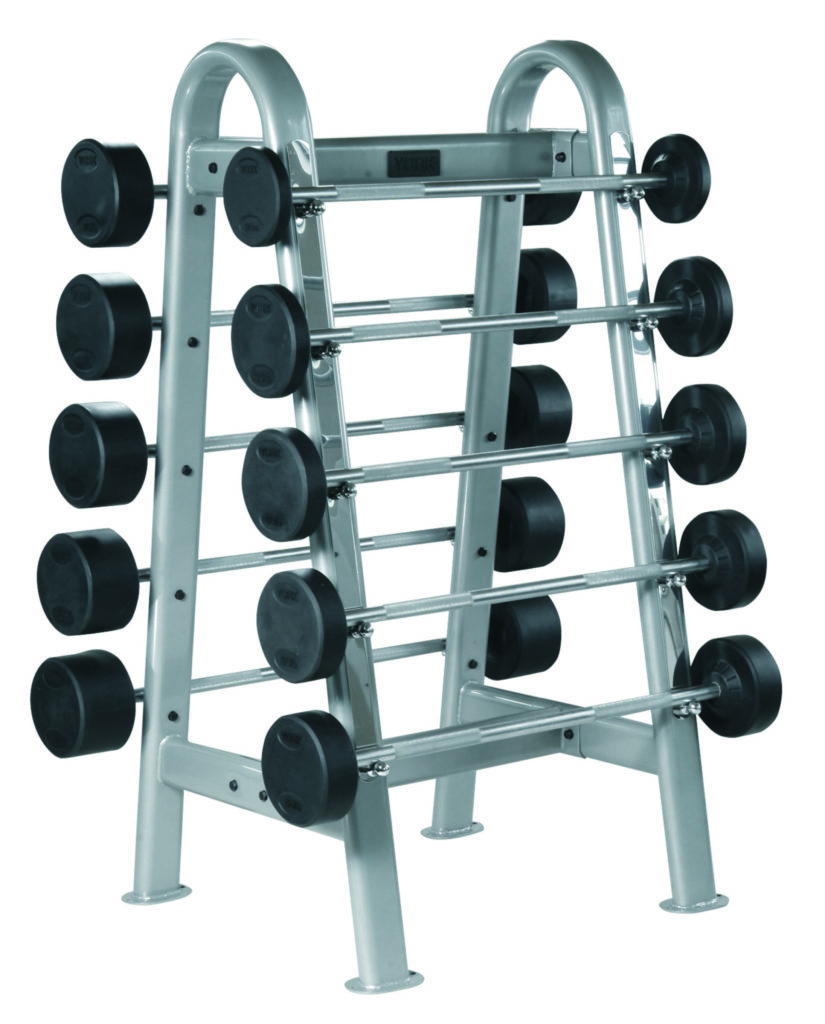 Fixed Straight And Curl Barbell Rack Gym Equipment