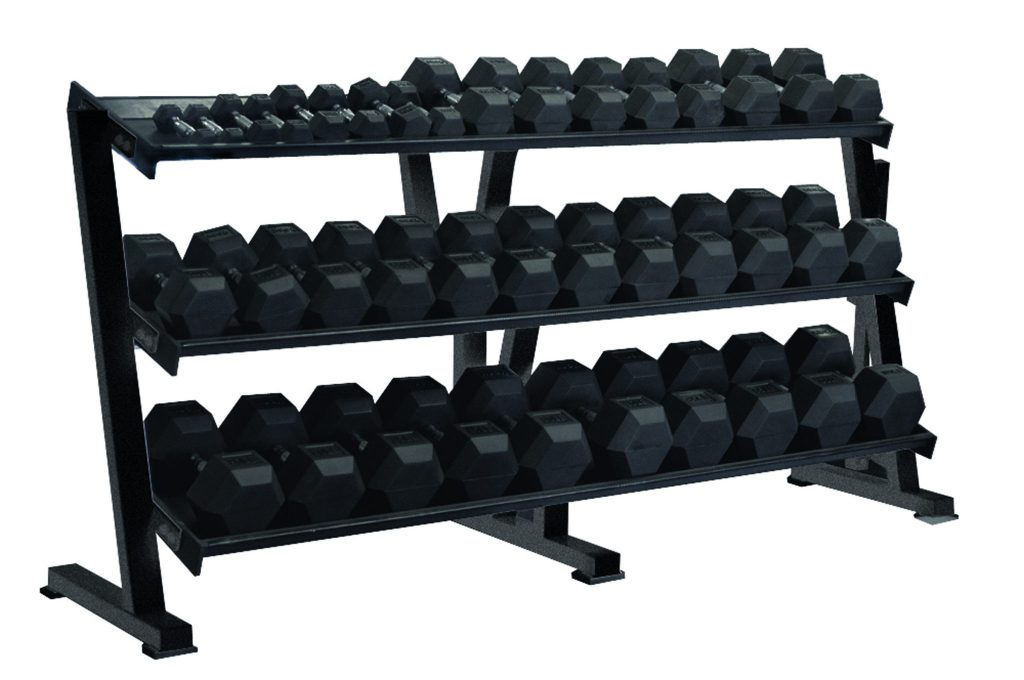 Hex Professional Tray Dumbbell Rack