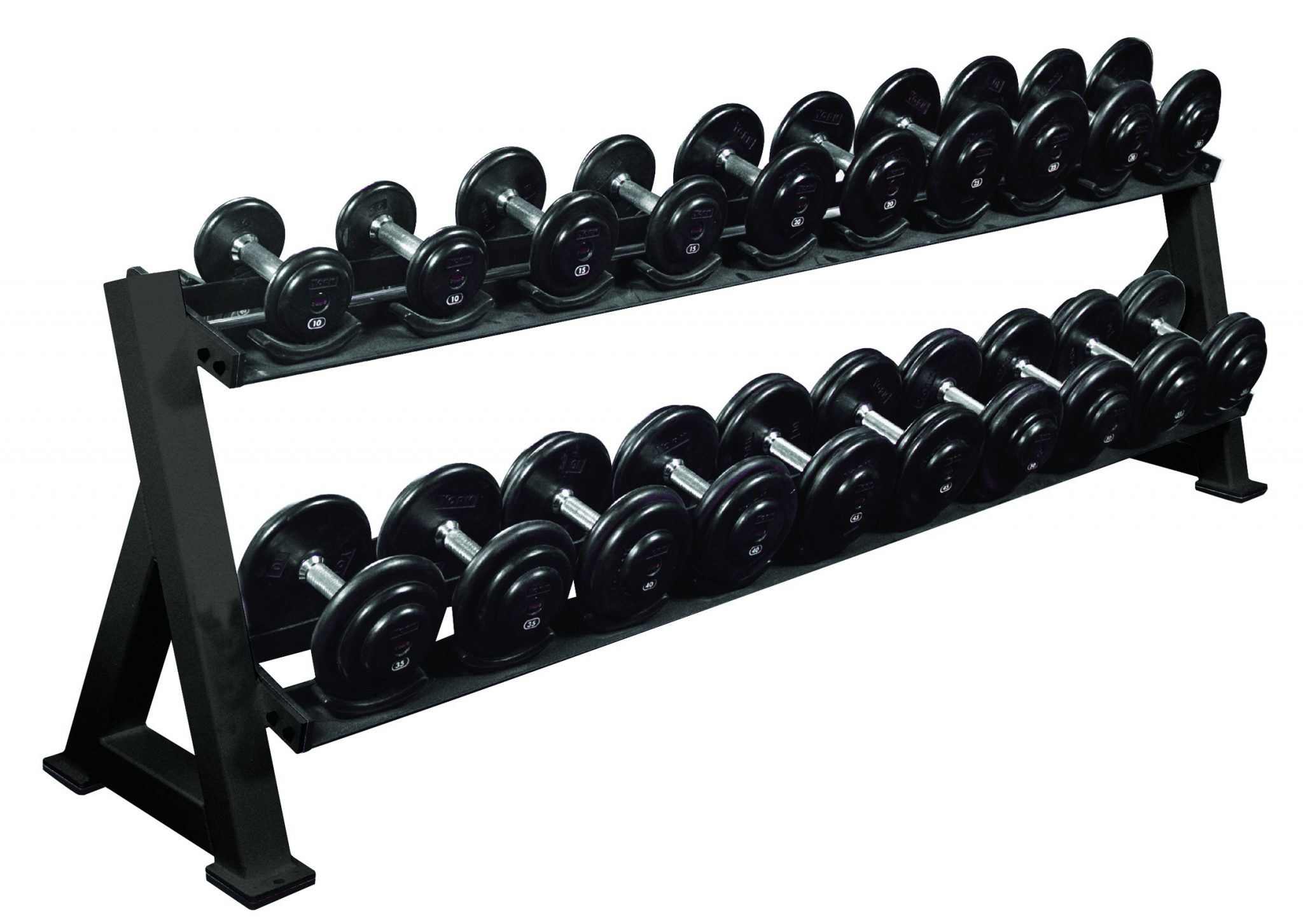 2 - Tier Dumbbell Rack with Saddles