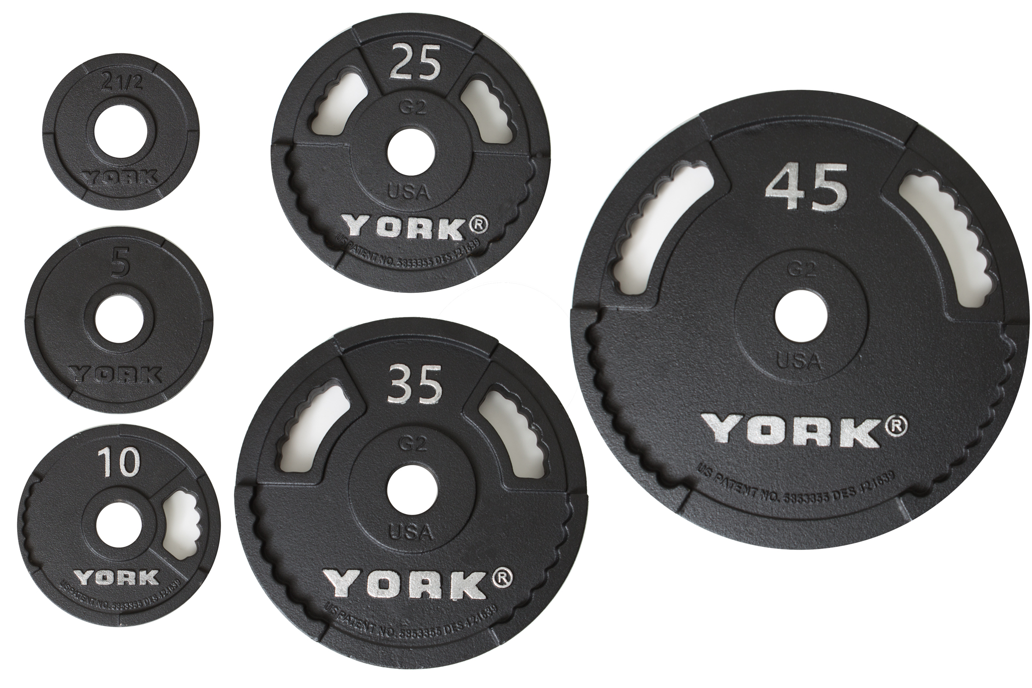 2\u2033 G-2 Cast Iron Olympic Weight Plate  sc 1 st  York Barbell & 2\