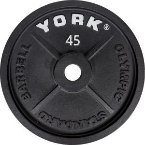 "2"" Cast Iron Olympic Weight Plates - York Barbell"