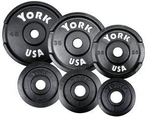 7430-7435-USAYorkCastIronOlympicPickUpPlates