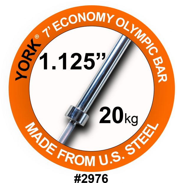7' Olympic Weight Bar for Olympic Steel Sleeves