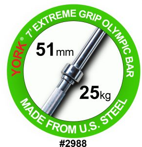 "Extreme 2"" Grip Olympic Weight Bar"