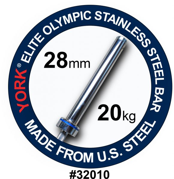 Elite Olympic Stainless Steel Weight Ba