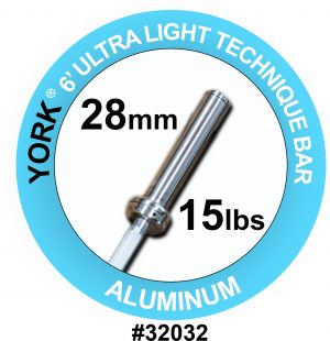"""Ultra-Lite"" Aluminum Weight Bar - York Barbell"
