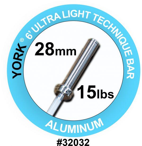 """""""Ultra-Lite"""" Aluminum Weight Bar - York Barbell"""