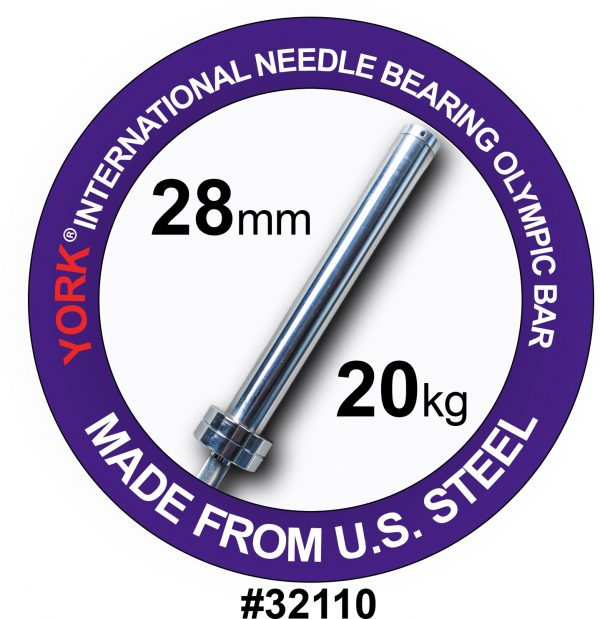 Men's North American Chrome Olympic Training Weight Bar - York Barbell