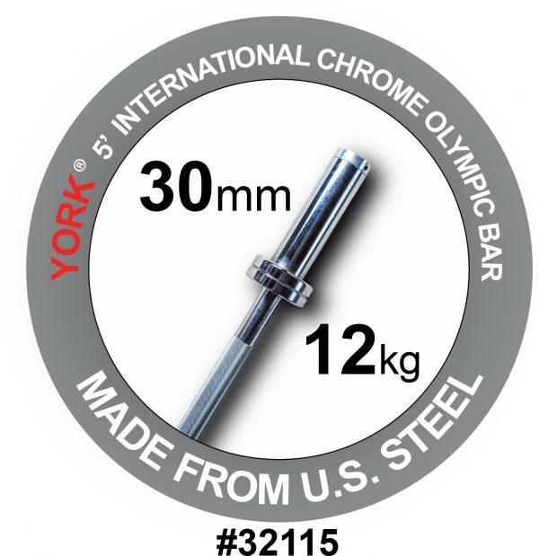 5' Chrome Weight Bar