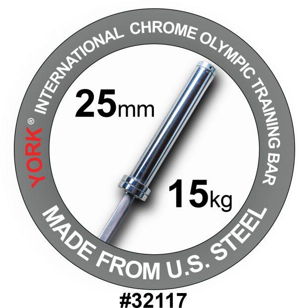 Women's International Chrome Olympic Training Weight Bar