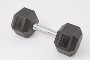 Rubber Hex Dumbbell - York Barbell