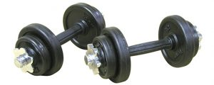 22 lb Rubber Adjustable SL Dumbbell Set