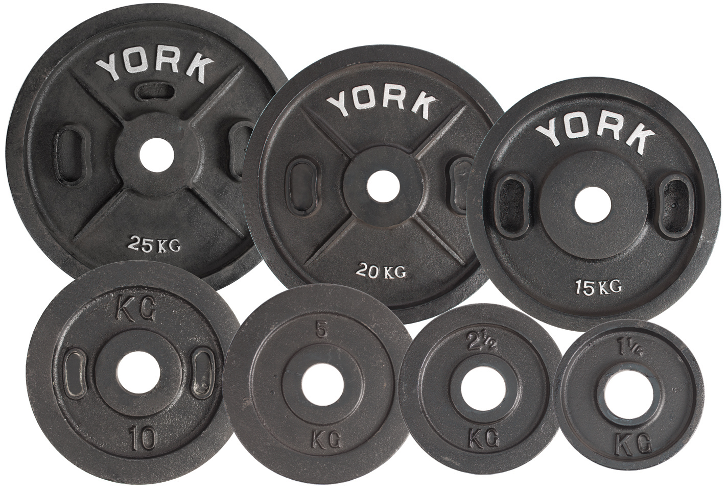 "Metric To Standard >> 2"" Calibrated Kilo Olympic Plate (Metric) - York Barbell"