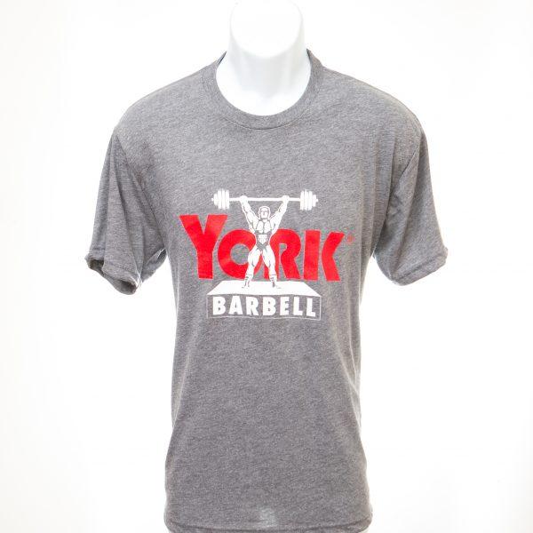 york barbell grey platform lifter tshirt