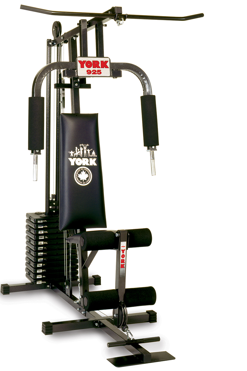 York multi gym home equipment barbell