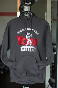 Charcoal Muscletown USA Hoodie | Gym Apparel l York Barbell