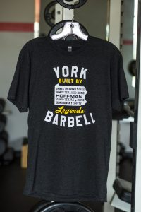 York Barbell Legends T-Shirt - Black | Gym Apparel | York Barbell