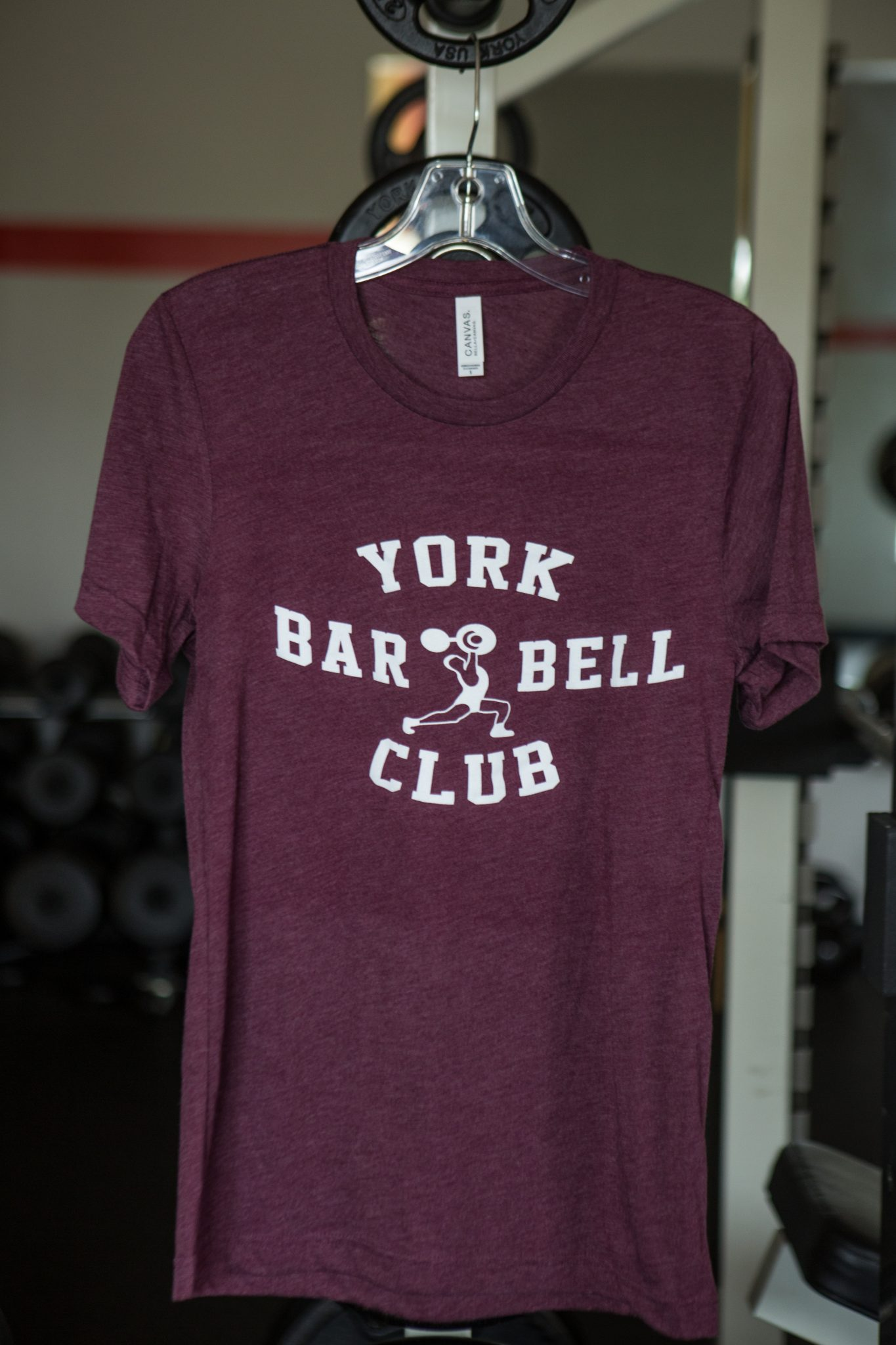 York Barbell Club Tee-Maroon