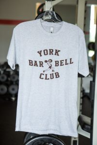 York Barbell Club Tee- Heatherd White | Gym Apparel | York Barbell