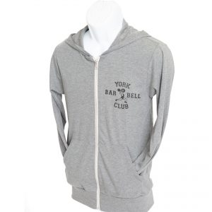 York Barbell Club Hoodie – Grey