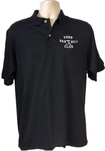 York Barbell Club Polo-Black | Gym Apparel