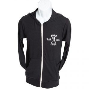 York Barbell Club Hoodie – Black