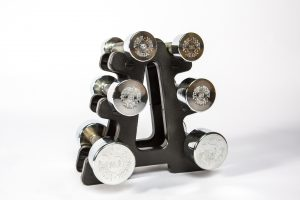 York Barbell - Chrome Dumbbells and Stand