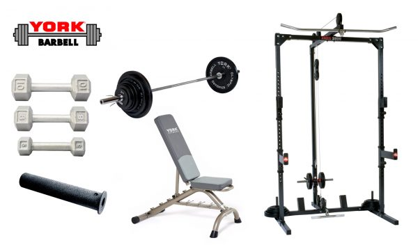 Basic Training Cage With Free Weight System - York Barbell