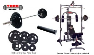 Basic Training Power Cage With Pulley and Barbell System - York Barbell