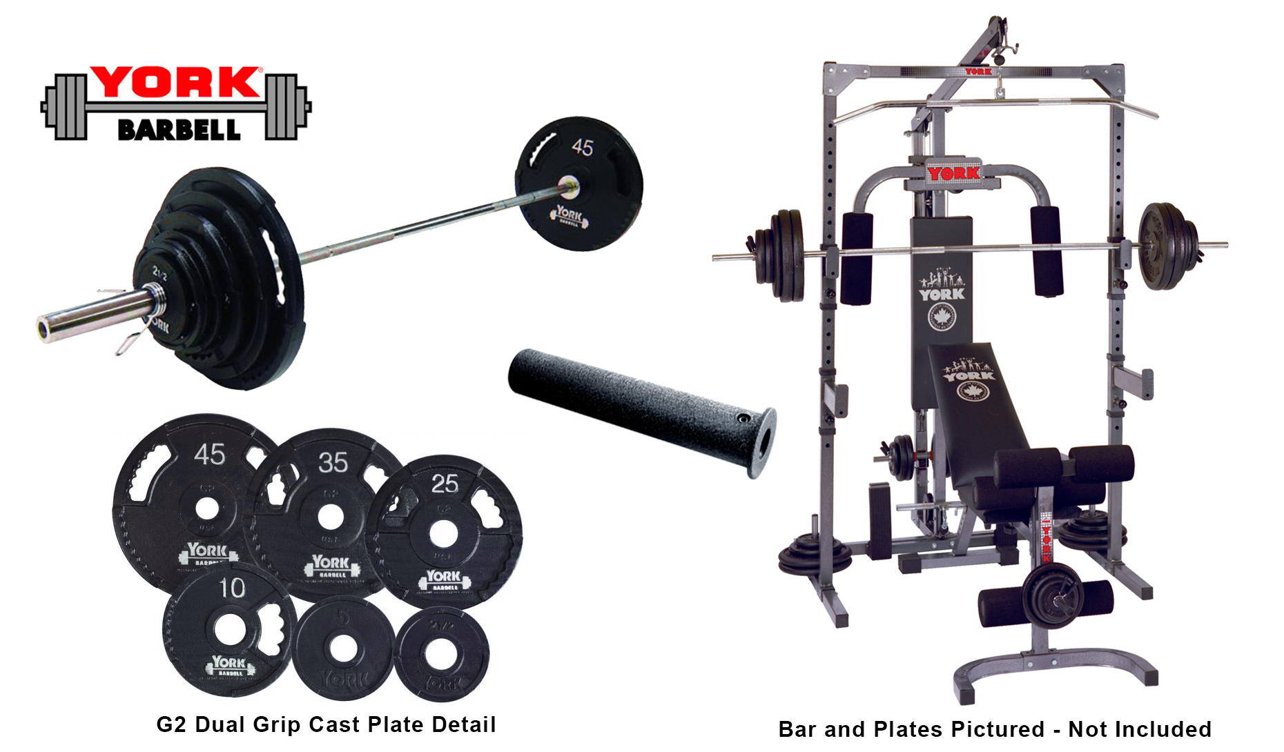 bb2e4e7609d Basic Training Power Cage With Pulley and Barbell System - York Barbell