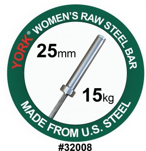 Raw Steel Oly Bar - Women's 25MM | York Barbell