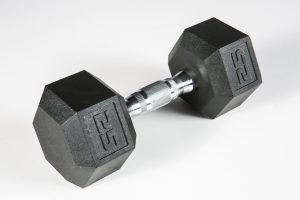 York Premium PVC Hex Dumbbell – Chrome Ergo Handle