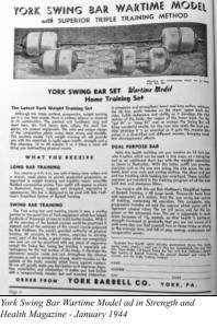 York Swing Bar Wartime Model