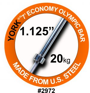 7′ Olympic Weight Bar for Olympic Steel Sleeves
